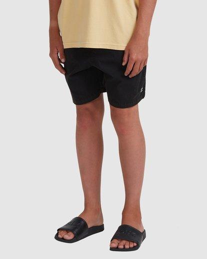 1 Boys 8-16 Mario Stretch Elastic Shorts Black 8572716 Billabong