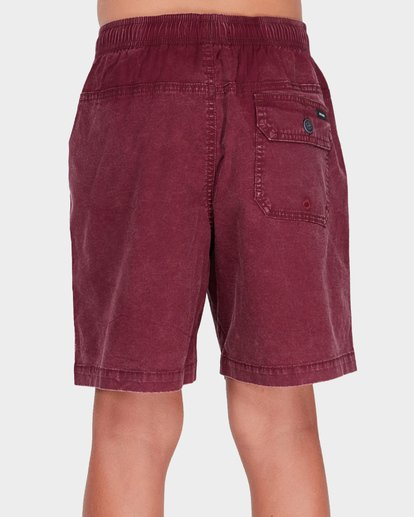 2 TEEN MARIO STRETCH ELASTIC BOARDSHORT Red 8572716 Billabong