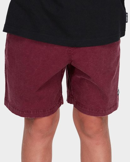 3 TEEN MARIO STRETCH ELASTIC BOARDSHORT Red 8572716 Billabong