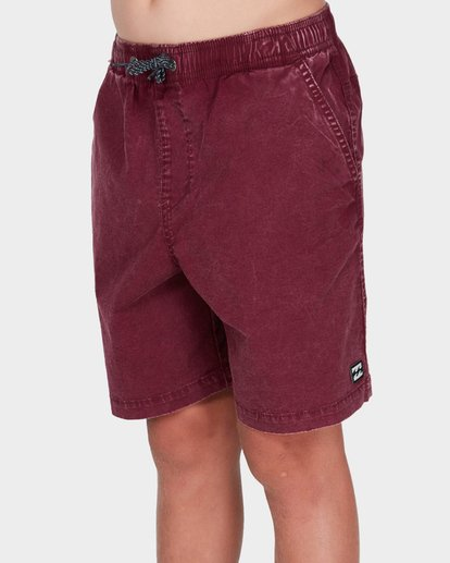 1 TEEN MARIO STRETCH ELASTIC BOARDSHORT Red 8572716 Billabong