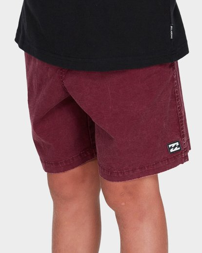 4 TEEN MARIO STRETCH ELASTIC BOARDSHORT Red 8572716 Billabong