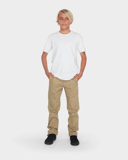 3 Teen New Order Chino Roll Up Grey 8585303 Billabong