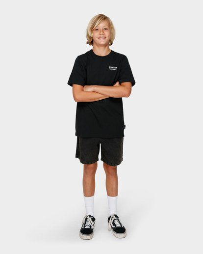6 BOYS UNDER CUT TEE Black 8591005 Billabong