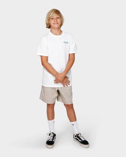 6 BOYS UNDER CUT TEE White 8591005 Billabong