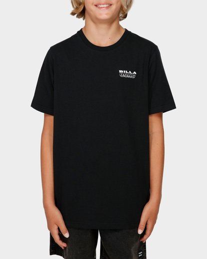 1 BOYS UNDER CUT TEE Black 8591005 Billabong