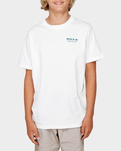 1 BOYS UNDER CUT TEE White 8591005 Billabong