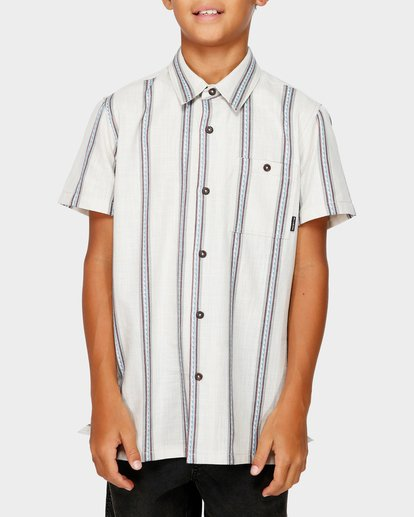 1 Teen Sunday Jacquard Shirt White 8591203 Billabong