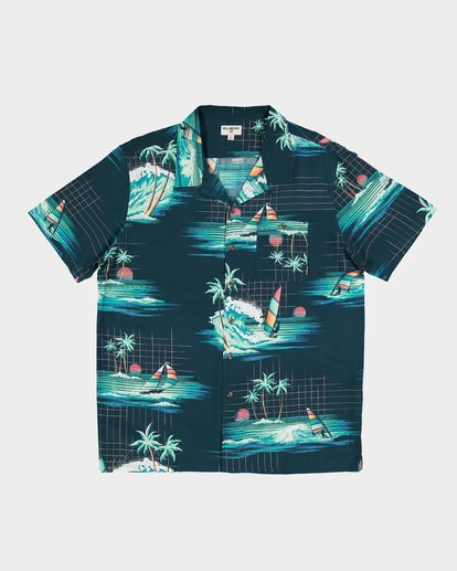 4 Teen Vacay Printed Shirt Blue 8591212 Billabong