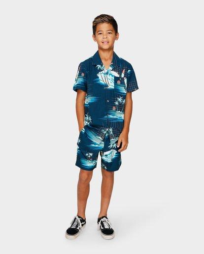 5 TEEN VACAY PRINTED SHIRT Blue 8591212 Billabong