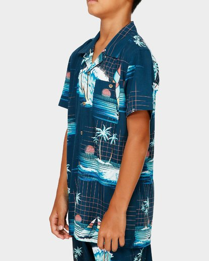 2 Teen Vacay Printed Shirt Blue 8591212 Billabong