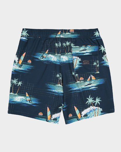 4 BOYS SUNDAYS LAYBACK BOARDSHORTS Blue 8591418 Billabong