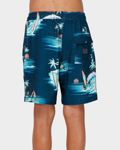 2 BOYS SUNDAYS LAYBACK BOARDSHORTS Blue 8591418 Billabong