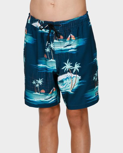1 BOYS SUNDAYS LAYBACK BOARDSHORTS Blue 8591418 Billabong