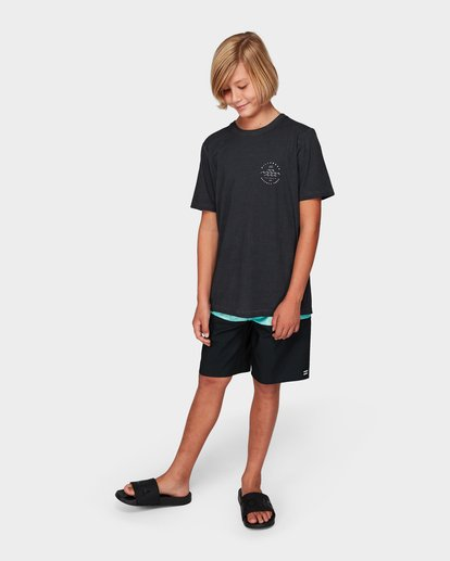 3 Boys Wavy Davy Tee Black 8592001 Billabong