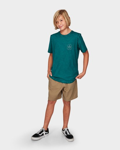 3 Boys Wavy Davy Tee Green 8592001 Billabong