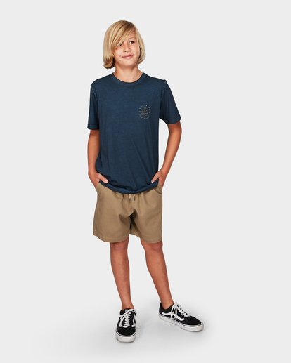 3 Boys Wavy Davy Tee Blue 8592001 Billabong