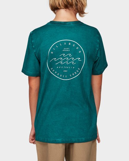 2 Boys Wavy Davy Tee Green 8592001 Billabong