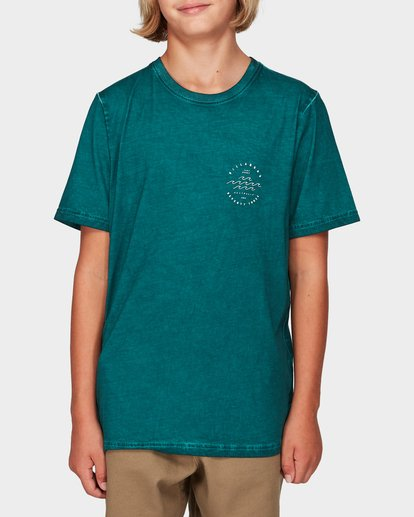 0 Boys Wavy Davy Tee Green 8592001 Billabong