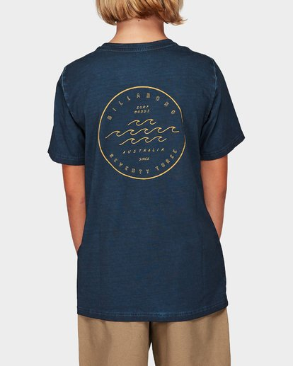 2 Boys Wavy Davy Tee Blue 8592001 Billabong