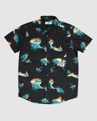 3 Boys Sundays Floral Short Sleeve Shirt Black 8592205 Billabong
