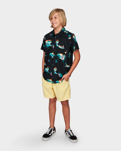 4 Boys Sundays Floral Short Sleeve Shirt Black 8592205 Billabong