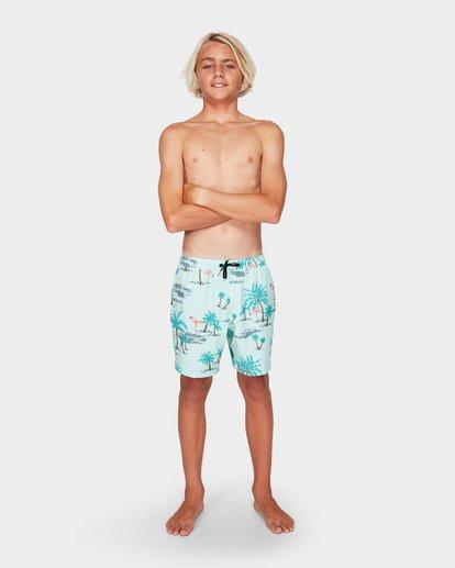 5 Boys Sundays Layback Boardshorts Blue 8592419 Billabong