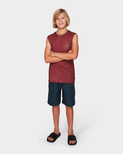3 Boys Wavy Davy Muscle Tee Red 8592503 Billabong