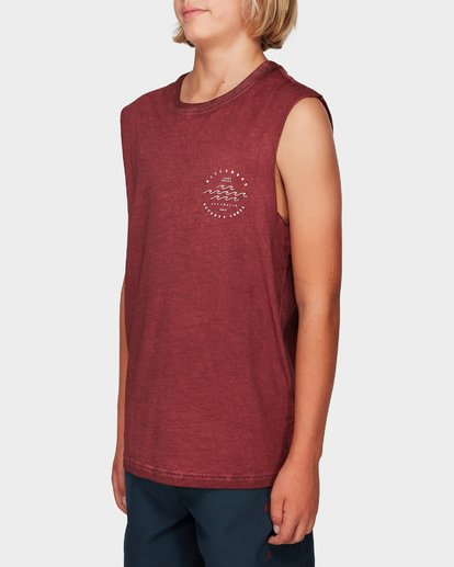 1 Boys Wavy Davy Muscle Tee Red 8592503 Billabong