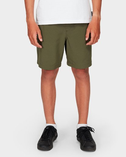 6 Boys Surftrek Perf Shorts Green 8592717 Billabong