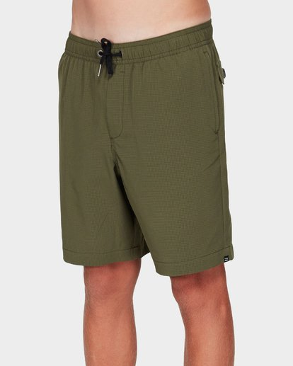 1 Boys Surftrek Perf Shorts Green 8592717 Billabong