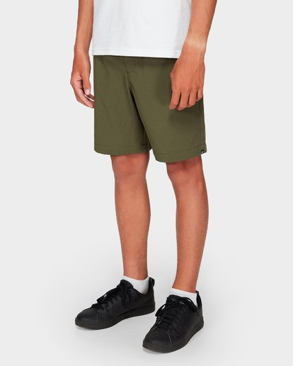 7 Boys Surftrek Perf Shorts Green 8592717 Billabong