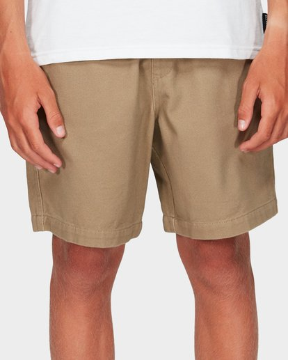 3 Boys Larry Twill Shorts Grey 8592733 Billabong