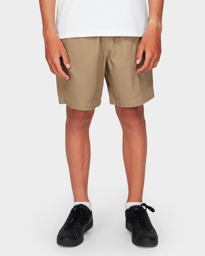 6 Boys Larry Twill Shorts Grey 8592733 Billabong