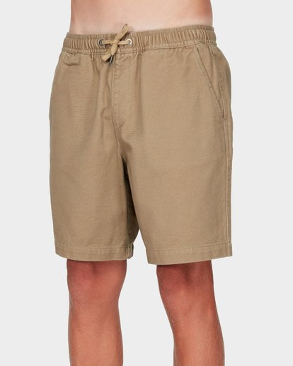 1 Boys Larry Twill Shorts Grey 8592733 Billabong