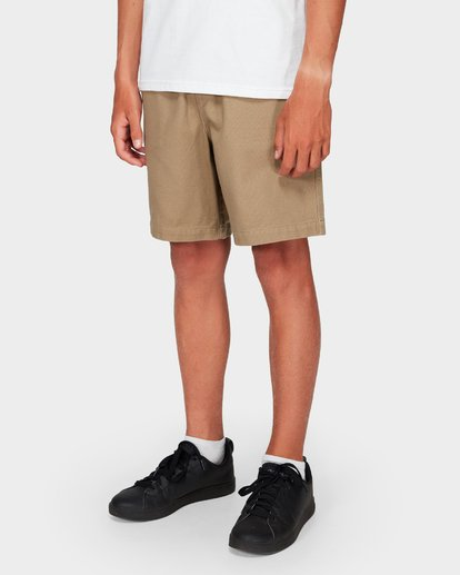 7 Boys Larry Twill Shorts Grey 8592733 Billabong