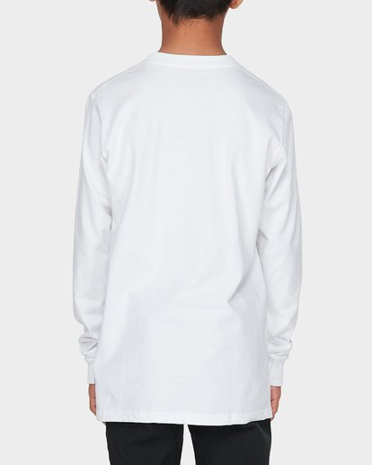 2 TEEN DEEP WOBBLE LONG SLEEVE TEE White 8595173 Billabong