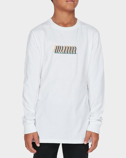 0 TEEN DEEP WOBBLE LONG SLEEVE TEE White 8595173 Billabong