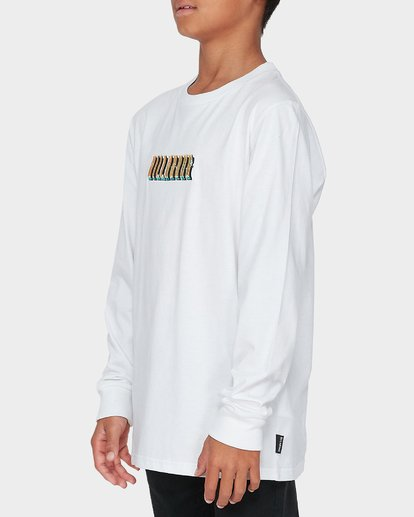 1 TEEN DEEP WOBBLE LONG SLEEVE TEE White 8595173 Billabong