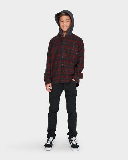 3 TEEN BAJA FLANNEL SHIRT Red 8595211 Billabong