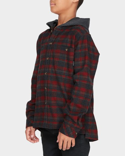 1 TEEN BAJA FLANNEL SHIRT Red 8595211 Billabong