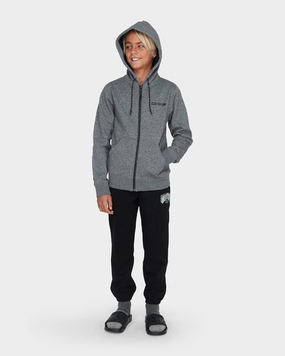 4 TEEN ADIV SHORELINE ZIP HOOD Grey 8595628 Billabong