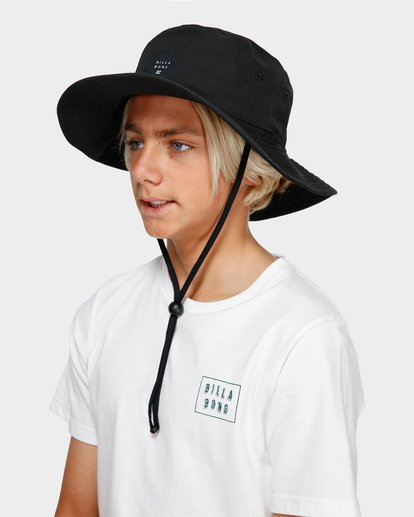 3 Boys Big John Bucket Hat Black 8603302 Billabong