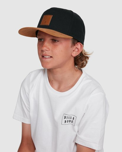 4 Boys Stacked Snapback Black 8603305 Billabong