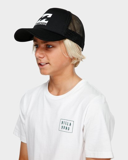 3 Boys Podium Trucker Cap Black 8603306 Billabong