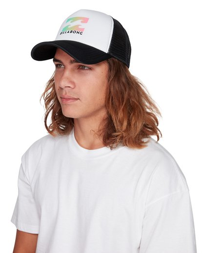 3 Boys Podium Trucker Cap White 8607306 Billabong