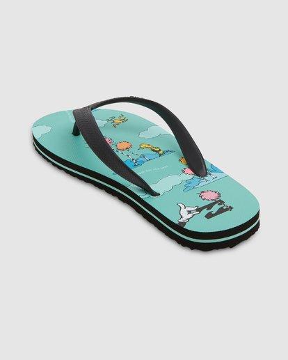 2 Dr. Seuss Lorax Island Tides Thongs Green 8608950 Billabong