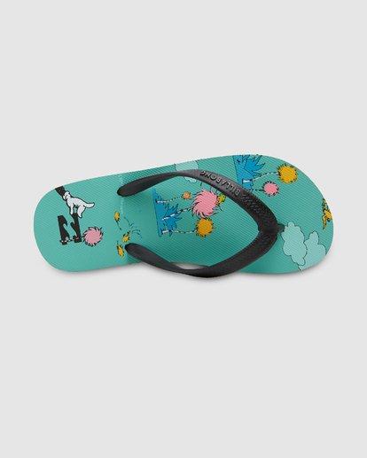 5 Dr. Seuss Lorax Island Tides Thongs Green 8608950 Billabong