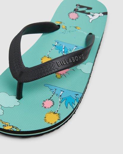 7 Dr. Seuss Lorax Island Tides Thongs Green 8608950 Billabong