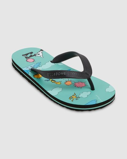 1 Dr. Seuss Lorax Island Tides Thongs Green 8608950 Billabong