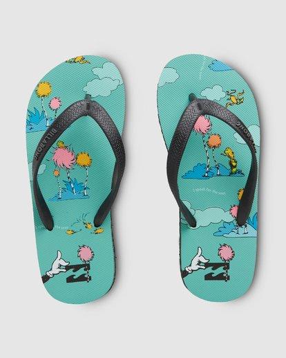 0 Dr. Seuss Lorax Island Tides Thongs Green 8608950 Billabong
